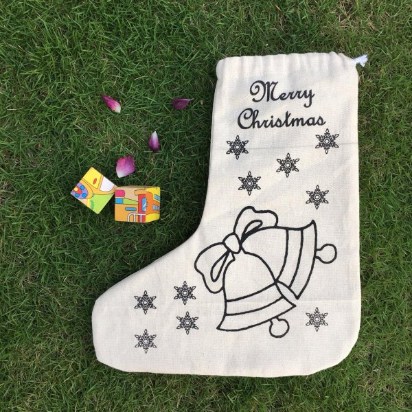 Christmas stockings bell print
