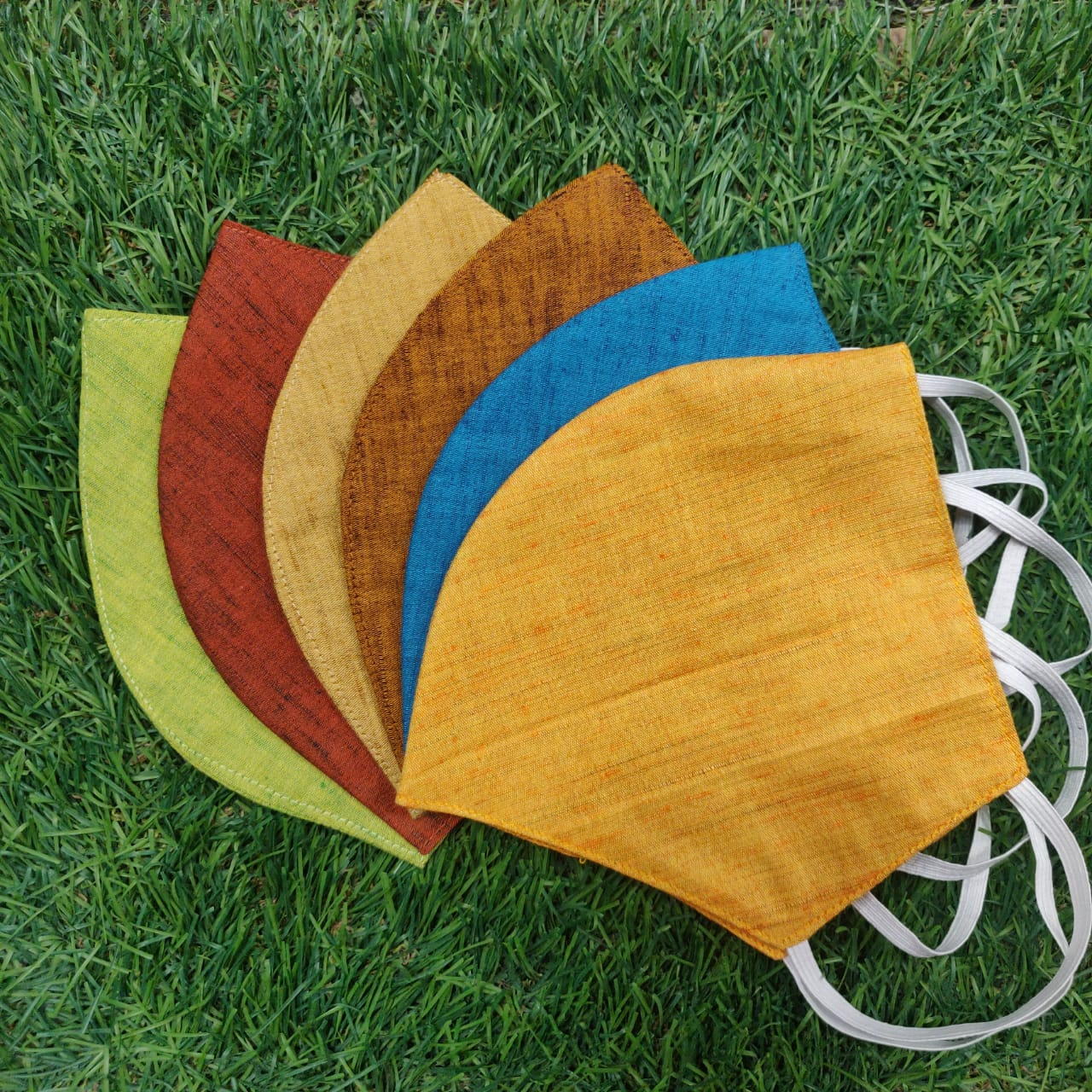Sterilised 2 Layer Reusable Cotton Masks - Colorful - Set of 6