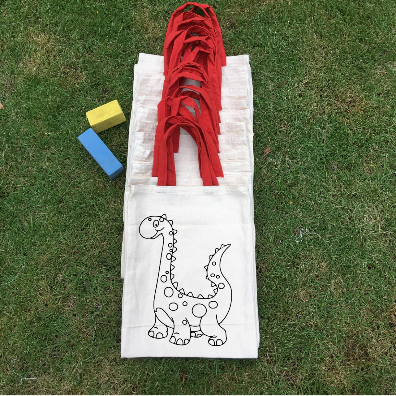 Dinosaur Tote bags in 100% Cotton From Shreeya's India