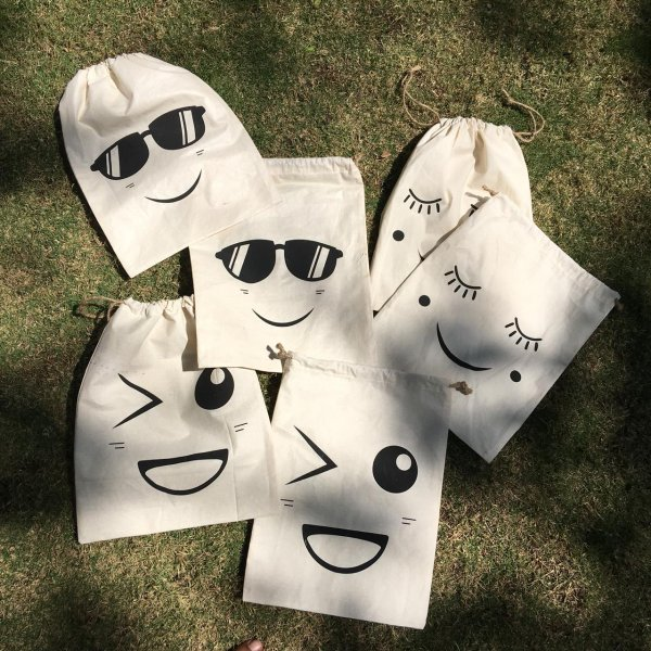 Shreeya's Emoji Oraganize Bags - Set of 3