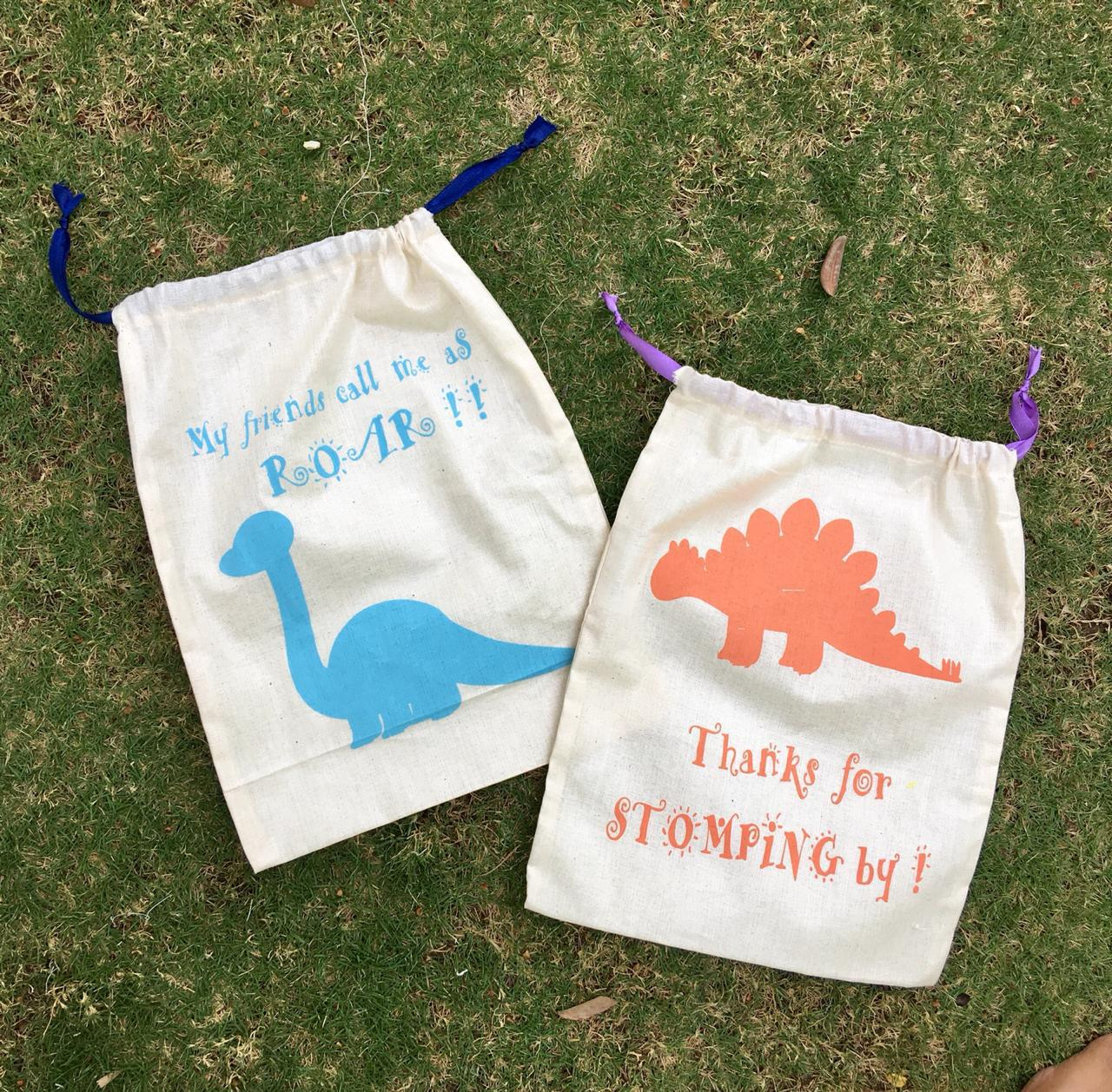 Shreeya's Giveaway Goodie Bags - Dinosaur - Set of 2