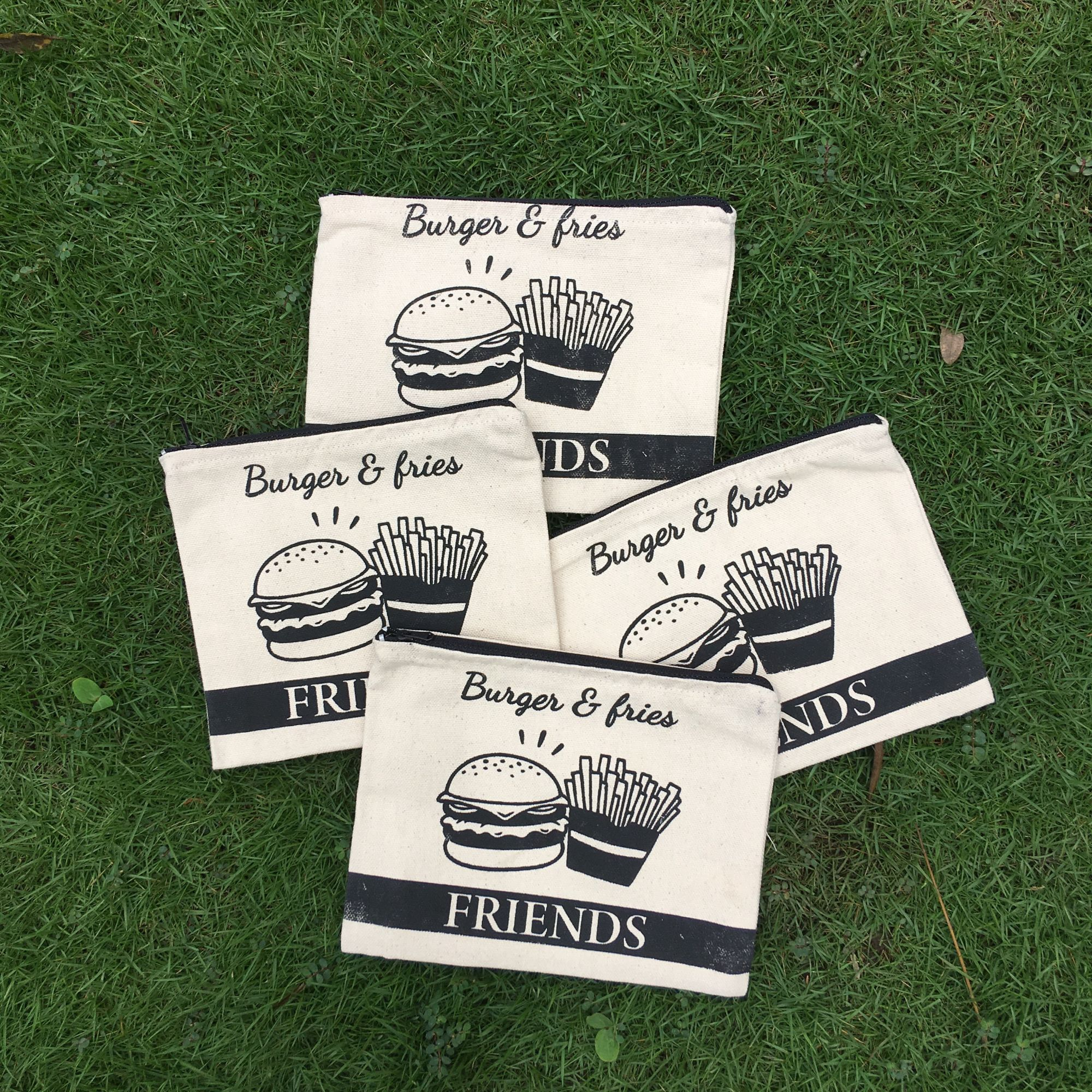 Burger & Fries Pouch - Set of 4