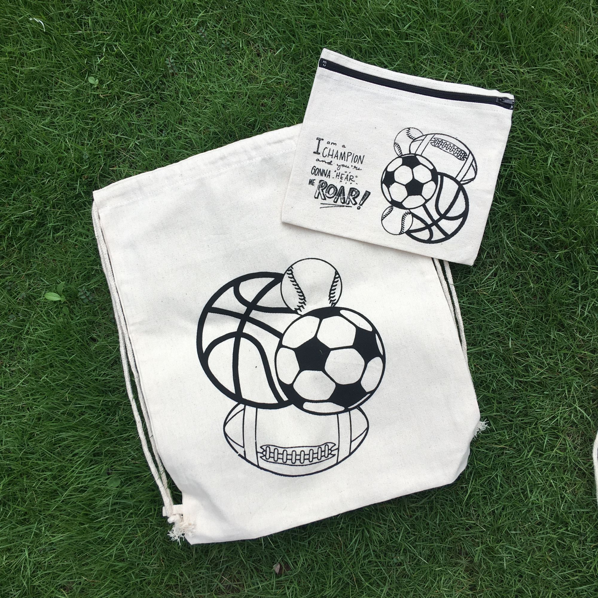 """Football"" Backpack & Pouch - Set of 4"
