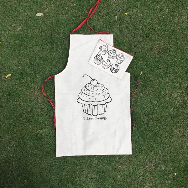 """CupCake"" Apron & Pouch - Set of 4 each"