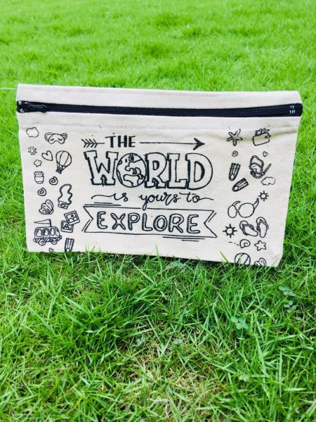 """World"" Pencil Pouch"