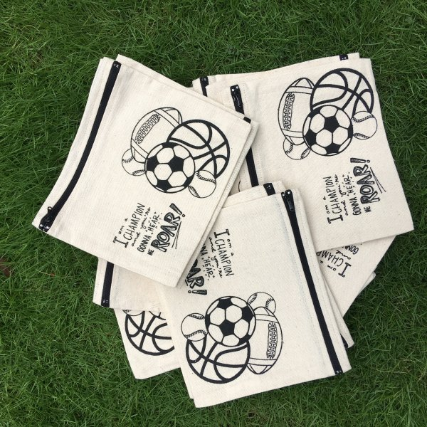 """Football"" Ready To Paint Pouches, Set of 12"
