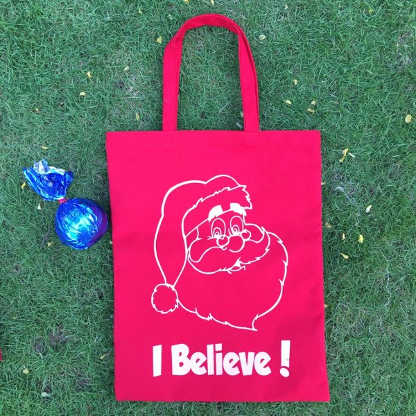 Christmas Red Tote Bag - Pack of 10